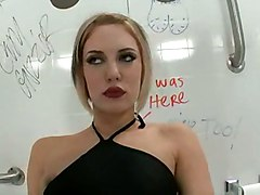 blonde glory hole blowjob hot masturbation