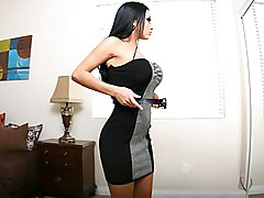 brunette  big tits  dress  dressed  undress  cock ride  sofa Audrey Bitoni  Chris Johnson