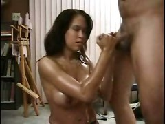 handjob amateur oil