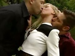 blonde outdoor public big tits kissing teasing stockings fishnet handjob riding anal doggystyle cumshot blowjob gaping groupsex tight