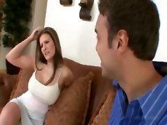 reality big tits brunette pornstar blowjob tit fuck cumshot