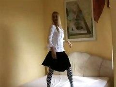 stockings hardcore blonde creampie blowjob tattoo pussyfucking goth gothic