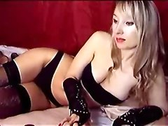 Very sexy blonde webcam dominatrix bondage bitch