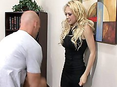 blonde  clothes off  panties off  blowjob  white  big tits  desk  cock ride  piercing  from behind  big cock Kagney Linn Karter