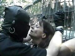 slave master bdsm bondage outdoor pussy