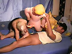 doll toy blonde bed homemade amateur couple