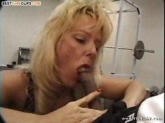 sweet milf gym deep throat ebony dick