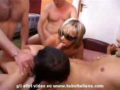 Mother   Daddy and Daughter in an exciting amateur orgy with final cumswap