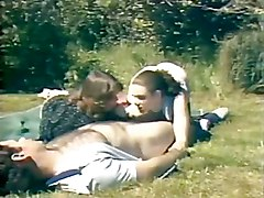 stockings cumshot hardcore outdoor blowjob brunette threesome hairypussy pussyfucking classic retro cocksuckers vintage