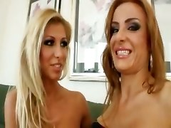 blonde lesbians fisting pussy footjob