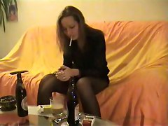 Milf Fingering Bitch Smoking Bottle Fuck Pantyhose Drunk Heels Shaved Ass Butt DP Peeing Pissing Fetish
