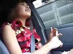 Asian Public Car and Bathroom BJ    hot japanese ass