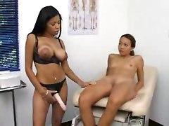 Strap on lesbian doctor fuck   lesbian hardcore ebony black