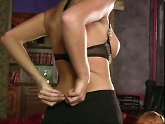 lesbians pussy licking sex toys squirting stockings