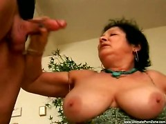 blowjob facial fat mature