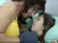 lesbians kiss milf teen big tits