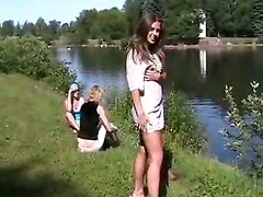 Amateur Brunettes Public Nudity