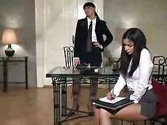 Naughty Lesbian Secretary.
