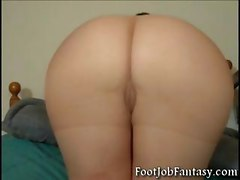 pantyhose feet amateur milf blonde