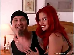 anal blowjob doggystyle tattoo fingering redhead saliva salivating gagging boots bed analcreampie gape assfucking cuminass throatfucking