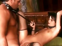 deep throat brunette slut latex fishnet stockings ass licking