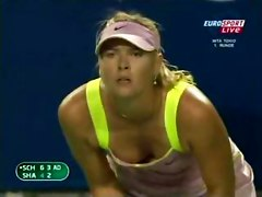 Maria Sharapova celeb celebrity tennis sport nip nipple slip oops tit boob naked nude hidden