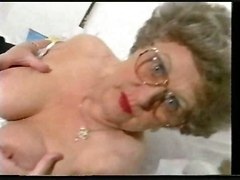 mature chubby stockings teasing masturbation solo rubbing hairy softcore granny
