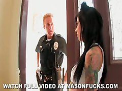 pornstar role playing cop deep throat tattoos big tits choking police handcuffs squirting reality hardcore