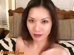 Asian blowjob suck brunette cock