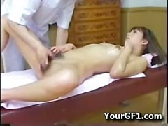 oiled fingering asian hairypussy massage japanese jap