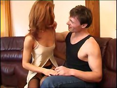 small tits reality red head milf stockings panties blowjob handjob pussylicking cumshot riding doggystyle