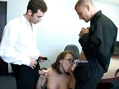 Reality Brunette Glasses Office Pussy Rubbing Panties Teasing Stockings Big Tits Blowjob Double Blowjob Spanking Groupsex Threesome Doggystyle Anal Hardcore Face Fuck Riding Double Penetration Facial Cumshot