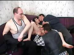 Mature Mens And Teen Girl In Group Sex Orgy
