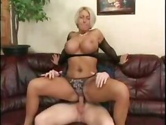 Mom With Huge Tits in Fishnet    mature hot milf