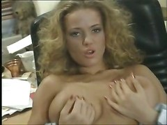 tracy adams office reality classic busty