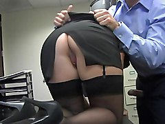 sex  office  stockings  ass  blonde  glasses  from behind  fingering Jamie Lamore