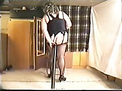 amateur solo crossdresser stockings fat objects insertion