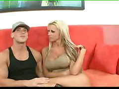 cumshot blonde blowjob doggystyle sofa boots bigtits titlicking pussylicking undressing pussyfucking kissing