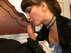 eat dick leather boobs cumshot