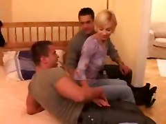 blonde threesome hardcore blowjob whore