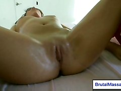 pussy fucking hardcore petite shaved oil massage