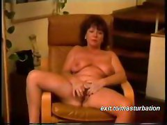Mom  Alone at home  Playing  with my pussy in my lazy chair  First movie  I like the idea other people getting excited by watching my movie