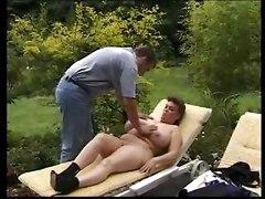 Big tits boobs fisting blowjob handjob suck lick garden outdoor mature bbw juggs
