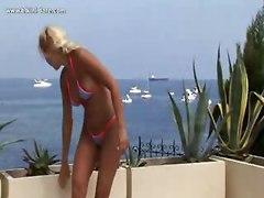 bikini dare bikini dare bikini thong sexy blonde tits ass tanned tanning pussy