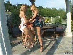 lesbians outdoor lick kiss nipples