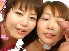 bukkake lesbians masturbation cum facial