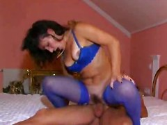 69 pussylicking riding anal doggystyle cumshot small tits milf blowjob handjob brunette lingerie panties stockings fingering facial tight mature