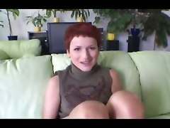 red head couch european panties big tits natural ass striptease blowjob deepthroat face fuck gagging facial cumshot hardcore rough sex
