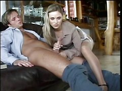 Blondes Handjobs Stockings