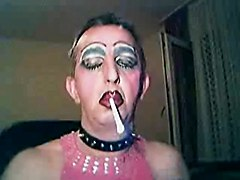 Sissy Faggot Steven Smoking Like A Slut